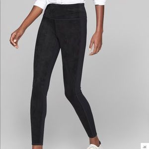 Athleta Faux Suede Leggings, Black, Small